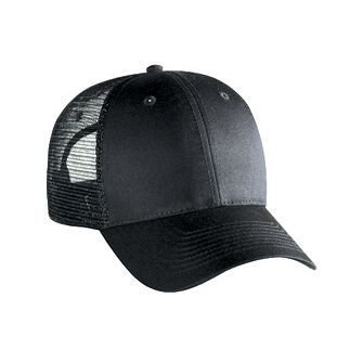 b0a3d1ef7 OTTO Cotton Blend Twill 6 Panel Low Profile Mesh Back Trucker Hat ...