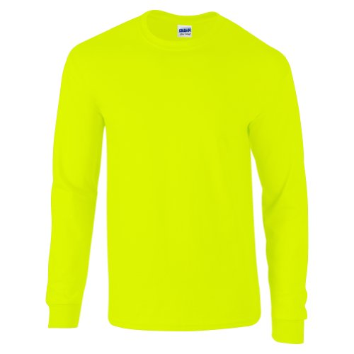 Maniche Green Lunghe Safety Ultra Maglietta Tm Gildan Cotton Adult A Vert Znqp6
