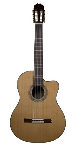 (Teton Classical Acoustic Electric Guitar Solid Cedar Top Rosewood Back/Sides STC155CENT)