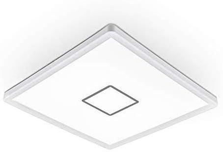 B.K.Licht I 12 W LED Deckenleuchte I 4.000K I 25 cm Durchmesser I 1.200 Lumen I neutralwei/ßes Licht I Schwarz-Matt