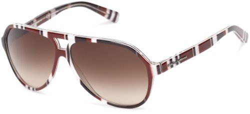 D&G Dolce & Gabbana 0DG4182P 27211360 Round Sunglasses,Stripes Brown , Black & White,60 - Sunglasses Dolce And 2013 Gabbana