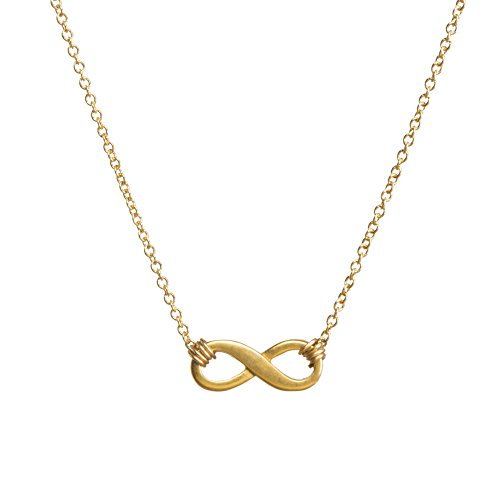 Dogeared Small Infinite Love Infinity Necklace 16'' with 2'' Extender Gold Dipped by Dogeared