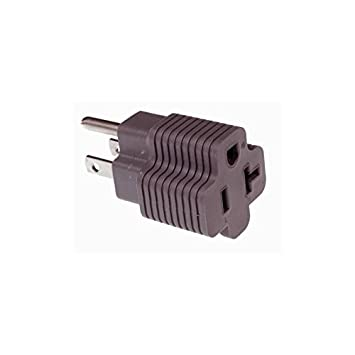 15 Amp Male to 20 Amp Female Plug Outlet 3 Prong Household T-Blade ...