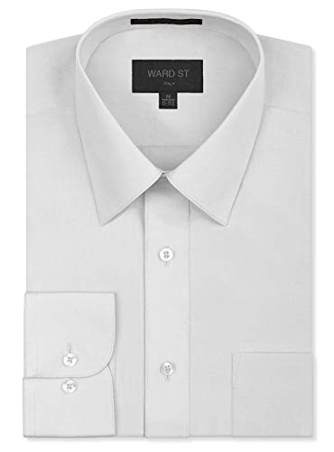Ward St Men's Regular Fit Dress Shirts, 4XL, 20-20.5N 36/37S, White