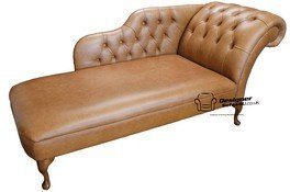 Chesterfield Leather Chaise Lounge Day Bed: Amazon.co.uk: Kitchen ...