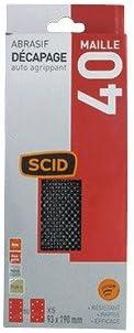 Grain 40 Vendu par 5 Patin maille auto-agrippant 93 x 190 mm SCID