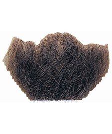 Rubie's Costume Co Gentlemans Black Human Hair Goatee Chin Beard One Size, Multicolor 2022 -