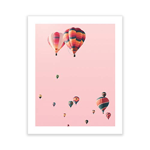 Humble Chic Wall Art Prints - Unframed HD Printed Modern Picture Poster Decorations for Home Decor Living Dining Bedroom Kitchen Bathroom Office Dorm Room - Hot Air Balloons Sky, 16x20 Vertical
