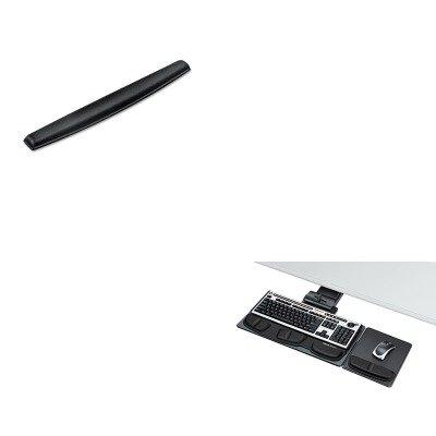 KITFEL8036101FEL9178201 - Value Kit - Fellowes Professional Executive Adjustable Keyboard Tray (FEL8036101) and Fellowes Memory Foam Keyboard Wrist Rest (FEL9178201) - Executive Adjustable Keyboard