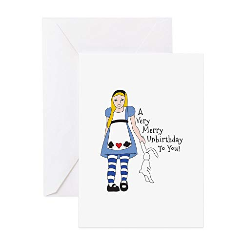 (CafePress Very Merry Unbirthday Greeting Cards Greeting Card, Note Card, Birthday Card, Blank Inside)