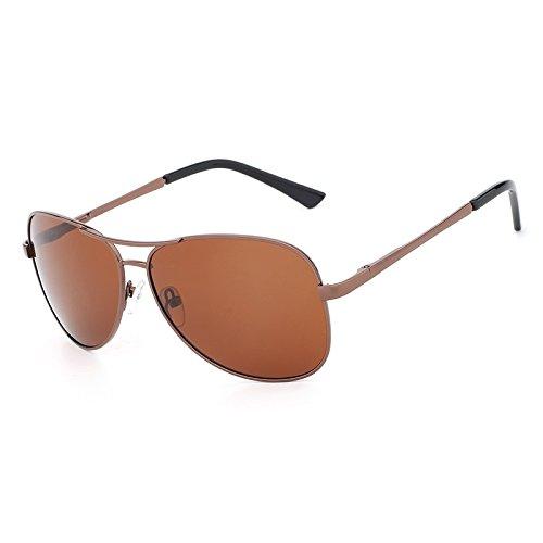 Hombre Piloto Gafas Tea de de Clásico polarizadas Protector Sol Diseñador para de Gafas Gafas de de Ruiyue UV400 Sol Metal Vestuario conducción Ydw4qgw