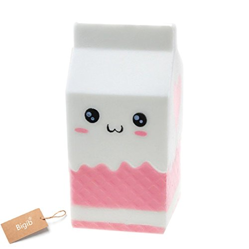 Jumbo Slow Rising Squishies Charms Kawaii Squishies Cream Scented Toys For Kids and Adults (Milk Bottle)