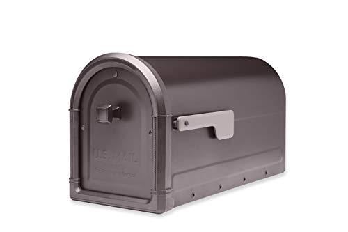 (Architectural Mailboxes 7900-5RZ-CG-10 Roxbury Postmount Mailbox, Large, Rubbed Bronze )