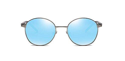 retro polarisées Bleu du rond en Lennon cercle Glacier métallique inspirées de soleil vintage style lunettes 4gWcYUWT