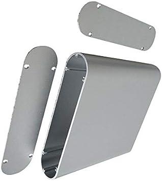 Caja de aluminio para proyectos – POWERTOOL Caja de instrumentos de aluminio para proyectos electrónicos, unidades de fuente de alimentación (40 x 165 x 130 mm), color plateado, plateado: Amazon.es: Bricolaje y herramientas
