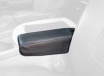 Black Leather-Black Thread RedlineGoods armrest Cover Compatible ...