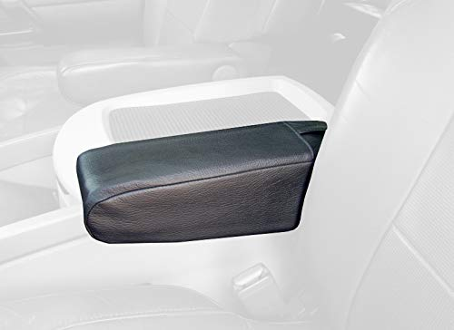 RedlineGoods seat armrest Covers Compatible with Nissan Armada 2004-15. Medium Gray Leather-Black Thread