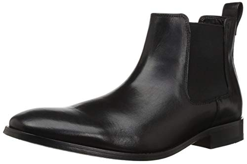 Bostonian Men's Nantasket Hi Chelsea Boot, Black Leather, 10.5 M US