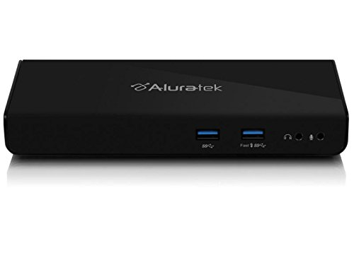 Aluratek USB 3.0 Dual Display Laptop Docking Station (AUDS0302F) by Aluratek
