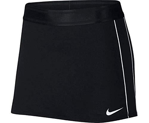 (NIKE Women's NikeCourt Dri-FIT Tennis Skirt (Black/White,)