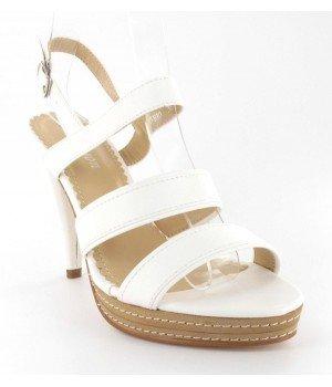 e413094f47a40 Chaussure Bas Prix - Sandales femme blanches à talon - Blanc - 40 - YF810-