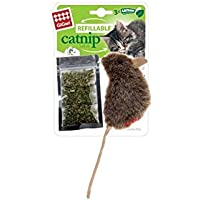 GiGwi Mouse Refillable Catnip, Brown, 7051, 3 Pcs