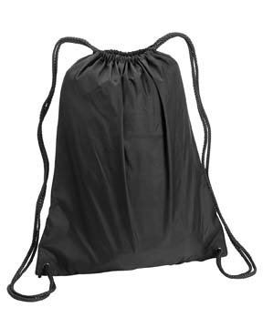 Liberty Bags Large Drawstring Backpack, One Size, BLACK by Liberty Bags (Image #2)