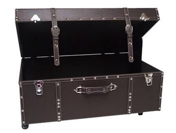 The Designer Wheeled Trunk - Espresso - Large by DormCo
