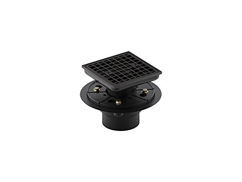 Kohler 9136-BL Square Design Tile-in Shower Drain, Matte Black