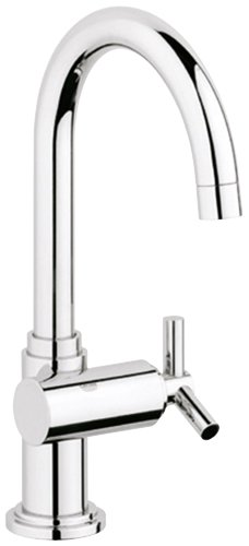 Grohe 20 074 000 Atrio High Profile Basin/Pillar Tap Faucet, StarLight Chrome - Pillar Tap Faucet Finish