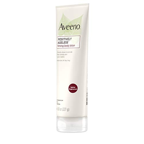 310fjj5G6gL - Aveeno Positively Ageless Anti-Aging Firming Body Lotion with Shiitake Mushroom complex & Wheat Protein,Lightweight &Non-Greasy Daily Moisturizing Lotion to help Improve Skin Elasticity & Texture,8 oz