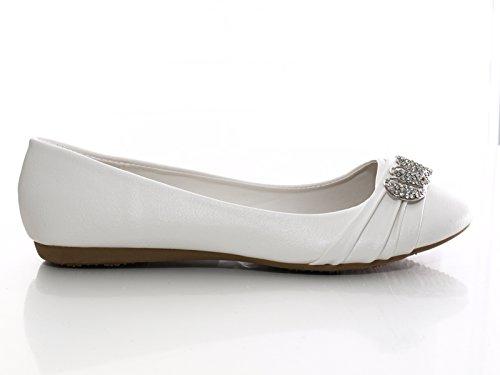 Damen Ballerina Weiß # 8274