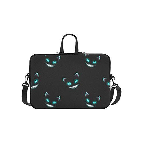 Delicate Cat Eyes Pattern Briefcase Laptop Bag Messenger Shoulder Work Bag Crossbody Handbag for Business Travelling