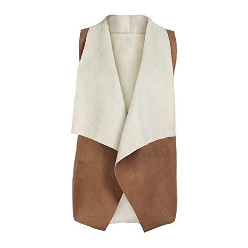 Casuale Giacca Vintage Cappotto Bavero Khaki Camoscio Baggy Smanicato Fashion Primaverile Outwear Eleganti Targogo Gilet Donna Autunno wqS7FO8X