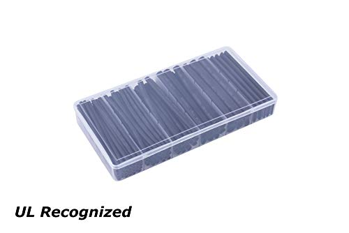 HimaPro 3:1 Dual Wall Adhesive Lined Heat Shrink Tubing Assortment Kit, 100pcs x 100mm ()