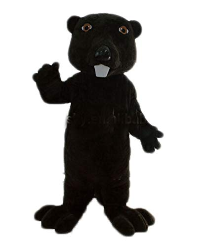 100% Real Photos Lovely Black Beaver Mascot Costume for AdvertisingFunny Mascot Costumes College Mascots Made Deguisement Mascotte]()