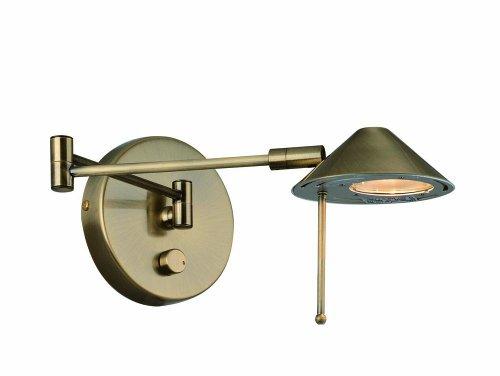 (Lite Source LS-16350AB Rhine Halogen Wall Lamp, Antique)