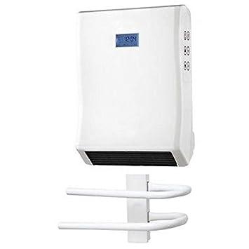 Exceptionnel SECHE SERVIETTE MURAL ELECTRIQUE SOUFFLANT ECRAN LCD VENTILATEUR SALLE DE  BAIN
