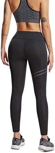 FITTOO Pantalones Deportivos Leggings Mujer Yoga de Alta Cintura Elásticos y Transpirables para Running Fitness Yoga con Gran Elásticos 4