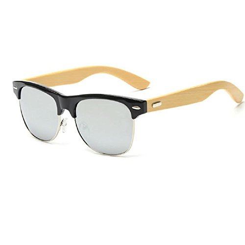 Classic Madera Negro Espejo Protección de Sol Caña UV400 Master de con Gafas Ducomi Bambú de 1YaqUnx