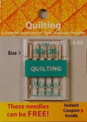 Klasse' Quilting Needles Size 90/14 (Klasse Quilting Needles compare prices)
