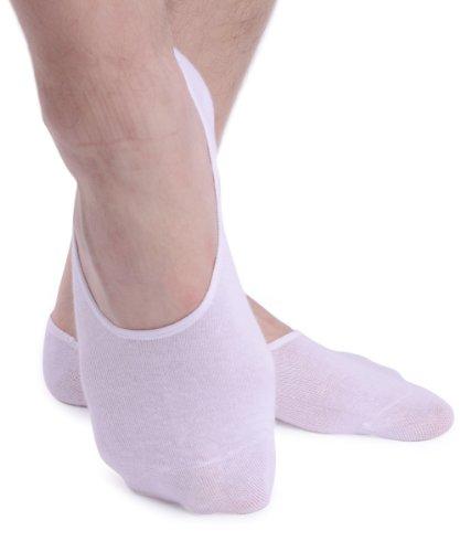 No Show Socks For Men 3prs Quality Cotton Lge Heel Grip Non Slip