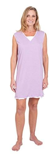 WICKING JULIA NIGHTGOWN FOR NIGHT SWEATS AND MENOPAUSE HOT FLASHES- (S-3X) (L(12/14), Violet)