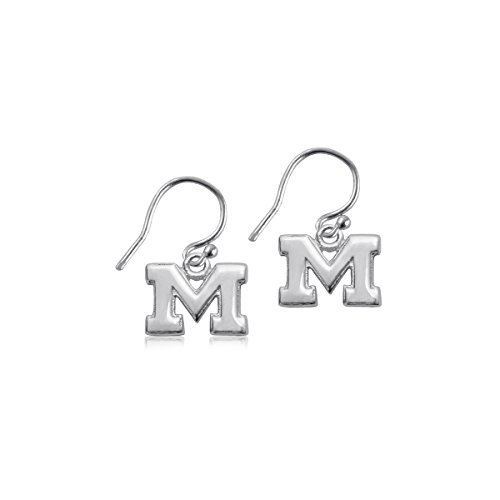 (University of Michigan Wolverines Sterling Silver Jewelry by Dayna Designs (Dangle)