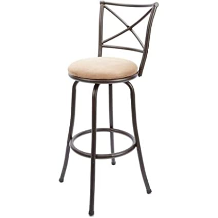 Terrific Mainstays 29 Swivel X Back Barstool Hammered Bronze Machost Co Dining Chair Design Ideas Machostcouk