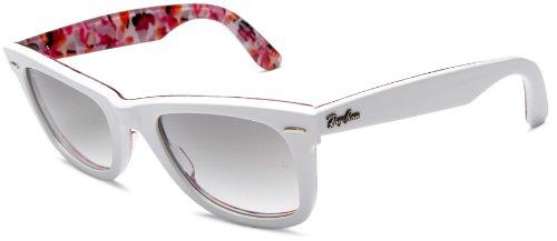 5e558278f7165 Ray-Ban 2140 102232 White on Flowers 2140 Wayfarer Wayfarer Sunglasses Lens  Cat  Amazon.co.uk  Clothing