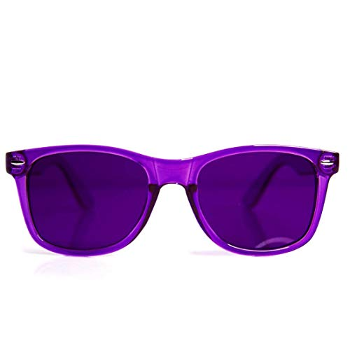 (GloFX Violet Color Therapy Glasses Chakra Glasses Chromotherapy Relax Glasses)