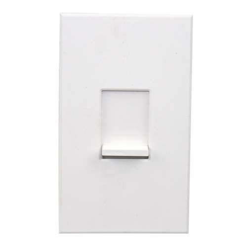 Lutron NTSTV-DV-WH Nova T 16 Amps LED / Fluorescent 0-10 VDC, Line Voltage Single Pole Slide-to-Off Dimmer in White, Matte Finish
