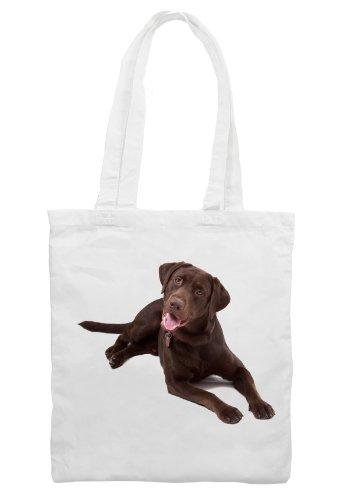 Chocolate Labrador Retriever Dog Shoulder - Shopping Bag