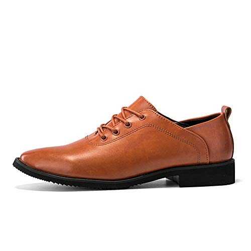 Nuovo Marrone da Lacing Stile Uomo Scarpe Stile da Formal Shoes Business Oxford Low Cricket Britannico Casual Upper qXfapw4Aw